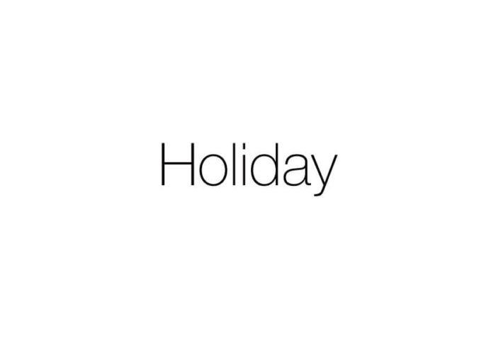休暇設定(毎週月曜日+月3日)